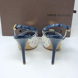 Louis Vuitton Shoes - 💯 Auth Louis Vuitton Multicolor High Heel Shoes